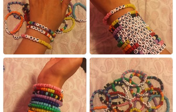 Cute and fun letter bracelets! By: Olivia Zwar