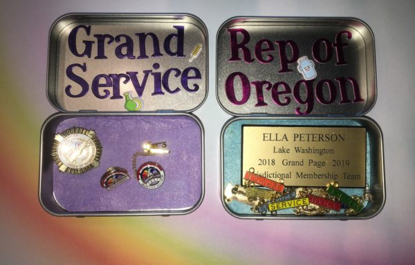 Name Tag and Pin Boxes, by: Ella Peterson