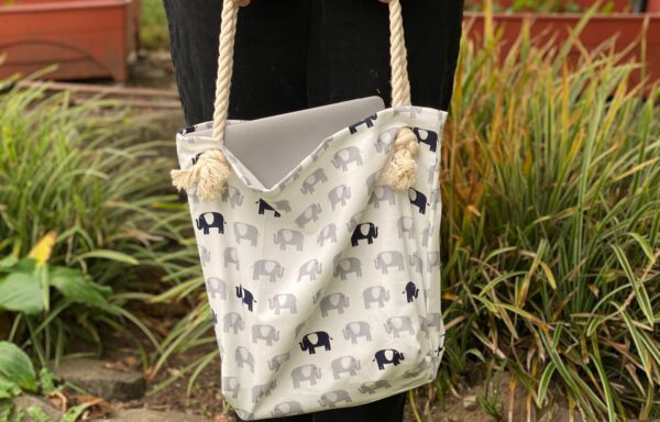 Elephant Tote Bags, sold by: Annalise Brush